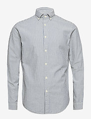 Selected Homme - SHHTWOOLIVER SHIRT LS SEERSUCKER - chemises business - blue aster - 0