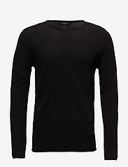 Selected Homme - SLHROCKY CREW NECK B NOOS - basic strik - black - 0