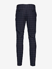 Selected Homme - SLHSLIM-MYLOLOGAN NAVY CHECK TRS B NOOS - suit trousers - navy blue - 1