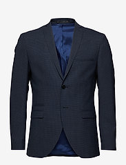 Selected Homme - SLHSLIM-BUFFALONOAH BLUE CHK BLZ B NOOS - single breasted suits - blue depths - 0
