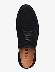 Selected Homme - SLHROYCE DERBY LIGHT SUEDE SHOE W - veterschoenen - black - 3