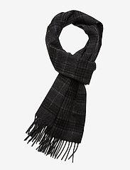 Selected Homme - SLHTOPE WOOL CHECK SCARF B - sjaals - dark grey melange - 0