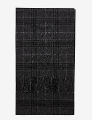 Selected Homme - SLHTOPE WOOL CHECK SCARF B - sjaals - dark grey melange - 1