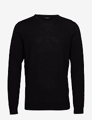 Selected Homme - SLHTOWER NEW MERINO CREW NECK B NOOS - rund hals - black - 0