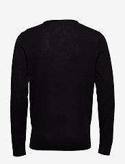 Selected Homme - SLHTOWER NEW MERINO V-NECK B NOOS - basic strik - black - 1