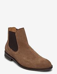 Selected Homme - SLHLOUIS SUEDE CHELSEA BOOT B NOOS - chelsea boots - cognac - 0