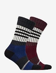 Selected Homme - SLH2-PACK HEAVY STRIPE SOCK W - regular socks - estate blue - 1