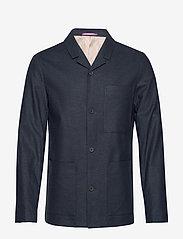 Selected Homme - SLHREG-DAVE LINEN HYBRID BLZ B - single breasted blazers - sky captain - 0