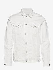 Selected Homme - SLHJEPPE 6221 OP WHITE ST DENIM JACKET W - denim jackets - white denim - 0