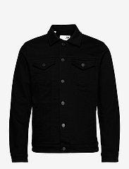 Selected Homme - SLHJEPPE 4001 BLACK DENIM JACKET U - kurtki dżinsowe - black denim - 0