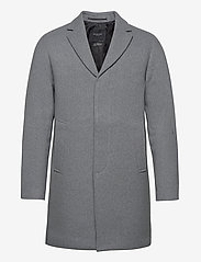Selected Homme - SLHHAGEN  WOOL COAT B - wollen mantels - grey melange - 0