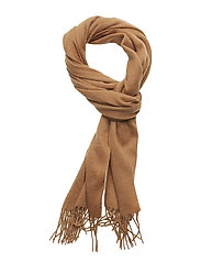 SLHTOPE WOOL SCARF B - CAMEL