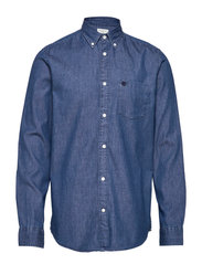 Collect shirt ls r  NOOS H - MEDIUM BLUE DENIM