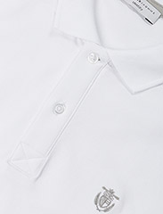 Selected Homme - SHDARO SS EMBROIDERY POLO NOOS - lyhythihaiset - bright white - 2