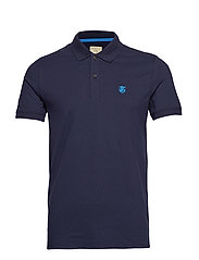 SHDARO SS EMBROIDERY POLO NOOS - PEACOAT