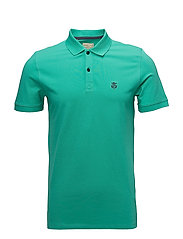 SHDARO SS EMBROIDERY POLO NOOS - PEACOCK GREEN