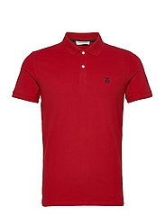 SHDARO SS EMBROIDERY POLO NOOS - SCARLET SAGE