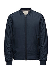 SHNNEWLIGHT BOMBER JACKET - DARK BLUE MELANGE