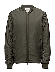 SHNNEWLIGHT BOMBER JACKET - DUSTY OLIVE