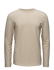 SHNSAM CREW NECK SWEAT - OYSTER GRAY