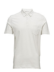 SHDJUNO STRIPE SS POLO - BRIGHT WHITE