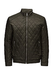 SHXBARTO QUILTED BOMBER JACKET - FOREST NIGHT