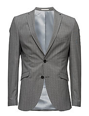SHDONE-TAXELIAS GREY CHECK BLAZER - GREY