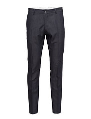 SHDONE-BUFFALOZANE NAVY TROUSERS - NAVY BLUE