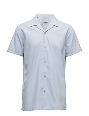 SHDTWOCUBAN SHIRT SS - LIGHT BLUE
