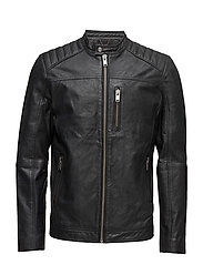 SHNKURT RACER LEATHER JACKET - BLACK