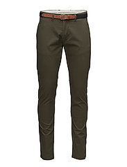SHHYARD FOREST NIGHT SLIM ST PANTS NOOS - FOREST NIGHT