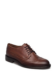 SHDBAXTER BROGUE LEATHER SHOE - COGNAC