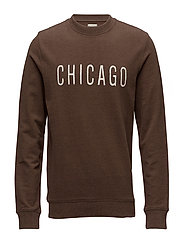 SHHMALIK CREW NECK SWEAT - COCOA BROWN