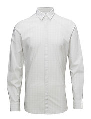 SHDONEELAN-COLLAR SHIRT LS - BRIGHT WHITE
