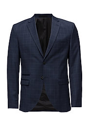 SHDONE-BUFFALO MINE NAVY CHECK BLAZER - DARK NAVY
