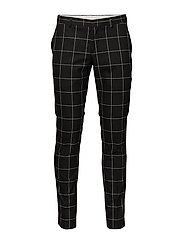 SHDZERO-JET GRID BLACK CHECK TROUSER - BLACK