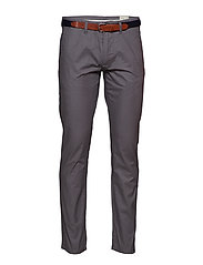 SLHSLIM-YARD SMOKED PEARL STRUC PANTS W - SMOKED PEARL