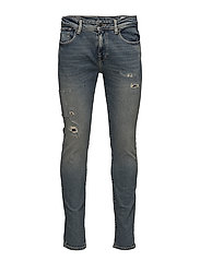SHNSLIM-LEON 1440 MID. BLUE ST JEANS - MEDIUM BLUE DENIM