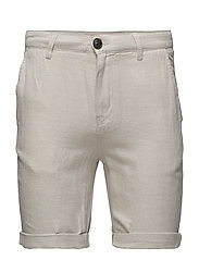 SHHPARIS SAND LINEN SHORTS - CHINCHILLA
