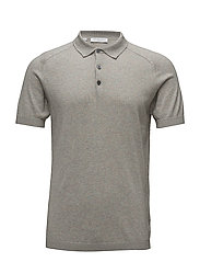SHDJACK KNITTED POLO - CROCKERY
