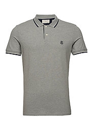 SLHNEWSEASON SS POLO W NOOS - MEDIUM GREY MELANGE