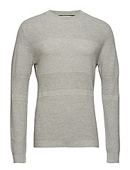 SLHMORRET BUBBLE CREW NECK W - LIGHT GREY MELANGE