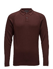 SLHFRANK RIB POLO NECK B - BITTER CHOCOLATE