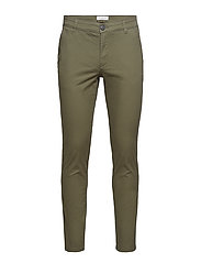 SLHSTRAIGHT-PARIS OLIVE N. PANTS W NOOS - OLIVE NIGHT