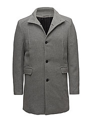 SLHMOSTO WOOL COAT B - MEDIUM GREY MELANGE