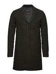 SLHBROVE WOOL COAT B - FOREST NIGHT