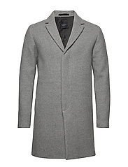 SLHBROVE WOOL COAT B - MEDIUM GREY MELANGE