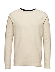 SLHTIMOTHY CREW NECK SWEAT W - OYSTER GRAY