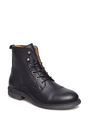 SLHTERREL LEATHER BOOT W NOOS - BLACK