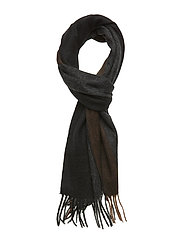 SLHTOPE WOOL STRIPE SCARF B - ANTHRACITE